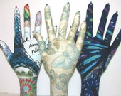 RESERVED for Karen ~ 3 Fabric Hand Jewelry Display REGULAR Style HAND-Stand