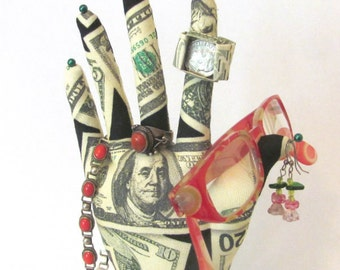 Cash On Hand Fabric Glasses Holder Jewelry Display REGULAR Style HAND-Stand