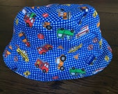 Reversible Vehicles and Planes Toddler Baby Sun Hat (4 child/baby sizes available)