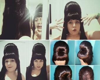 Elvira Mistress of The Dark inspired custom styled wig.