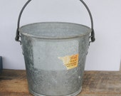 Vintage Galvanized Bucket with Handle