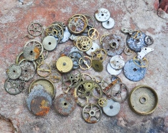 Vintage watch parts to use in your artwork.