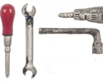 Dolls House Miniature Garage Tools Set Of 5