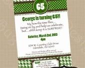 Golf Invitation printable Adult Birthday party invite by Luv Bug Design