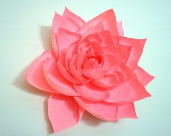 "12"" Crepe Paper Gardenia"