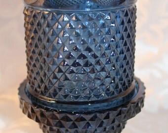 Vintage Viking Art Glass Diamond Point Fairy Lamp