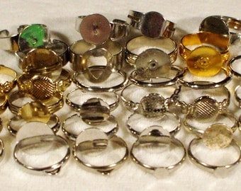 32 mixed Rings to Craft or design NEW