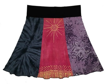 Women's Large XL Boho Hippie Skirt upcycled t-shirt clothing from Twinkle