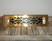 Vintage Art Deco Brass Register