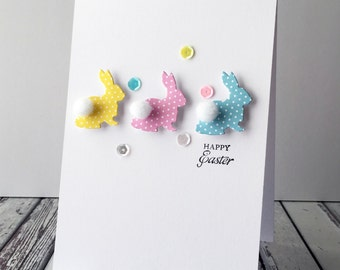 Polka Dot Bunny Card