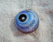 Blue and white swirl pendant Artisan Jewelry Pearl Jewelry