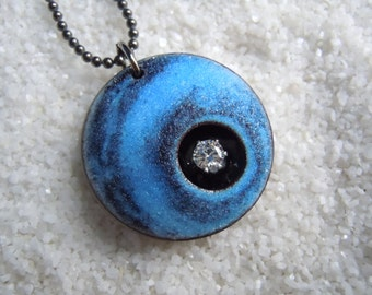 Blue Pendant Artisan Jewelry