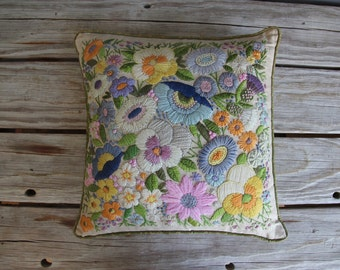 Gorgeous Handmade Embroidered Pillow