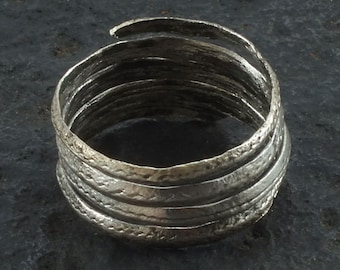 Ancient Viking Coil Snake Ring  C.866-1067 A.D. Size 9 1/2   (19mm)(brr1060) Vikking Ring