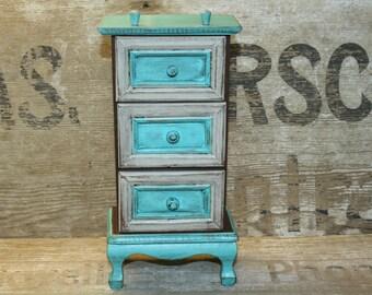 Jewelry Box - Painted - Wooden - Organizer