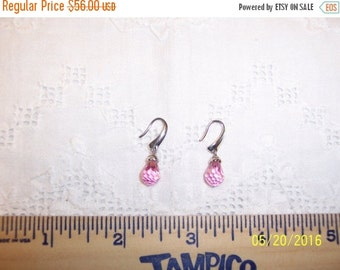 20 OFF EVERYTHING Vintage Pink Faceted cubic zirconias earrings. Sterling silver.