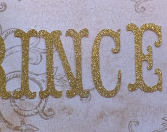 choose letters princess your name word from gold glitter cardstock letters 25 inch die cuts pcs for diy banner pieces diy birthday party
