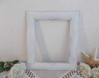 White Shabby Chic Wedding Picture Frame Up Cycled Vintage Ornate Heart Photo Decoration French Country Romantic Cottage Home Decor Gift Her