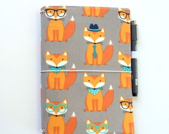 LEUCHTTURM1917 Leuchtturm 1917 cover Medium A5 Foxy Fox Midori Fauxdori Fabric Travelers Notebook Wide Faux Dori Moleskine Planner Cover