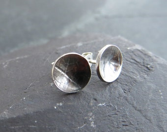 Silver Stud Earrings, Tiny Stud Earrings, Silver Leaf Earrings, Sterling Silver Studs, Oxidised Silver, UK Sellers Only, Everyday Earrings