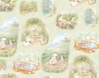 Best Friends Bunnies Fabric Collection from Bunnies by the Bay 45337G - 1 Yard