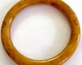 Vintage Marbled Butterscotch Bakelite Bangle Bracelet