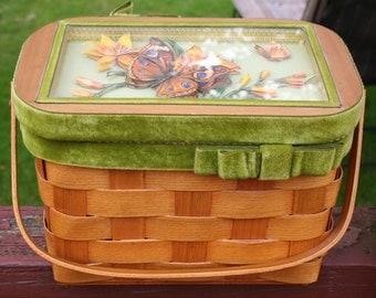 Wood Box Purse Basket Weave