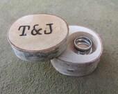 Premium Birch Ring Box   Birch Wedding Ring Box   Rustic Wedding Box   Country Wedding Box