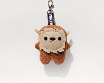Little Bambak Mich, brown bear, woodland animal, geek toy, key chain, best friend, kids gift, soft toy, star wars, ewok, kawaii plushie