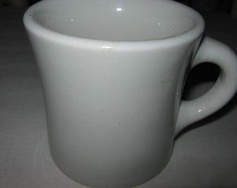 Very Old Shenango China White Heavy Duty Coffee Mug 1920 - 1940