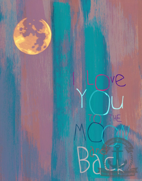 I Love You To The Moon and Back Whimsical Nursery Room Decor |Product Options and Pricing via Dropdown Menu