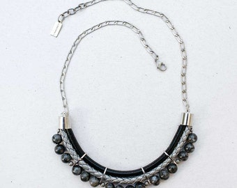 Gray colors onyx Necklace by Pardes
