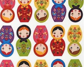 Bright Matryoshka Dolls From Robert Kaufman's Little Kukla Collection