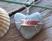 Wedding Proposal Heart Shaped Beach Stone Ornament/Special/ One of a Kind/ Heart Gift/Valentine