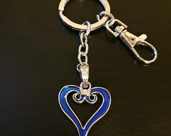 Kingdom Hearts Enameled Heart Keychain