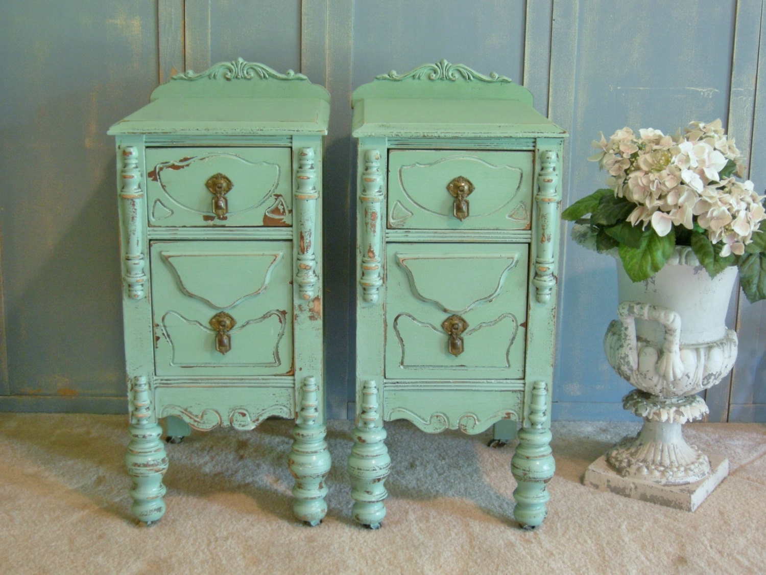Antique Night Stands 2 Nightstands Restored Pair Of Antique Nightstands Perfect For