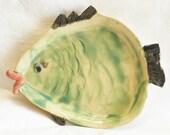 Ceramic little green fish Dish FD1