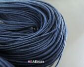 Cotton Wax Cord 2 Yards 1.5mm - Dark Blue Round Round Cotton Wax Cords