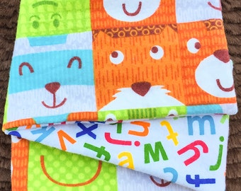 Alphabet Blocks, *** STAGE 1*** Children's G Tube Belly Band Wrap, (waist size 17.5-19.5 inches)