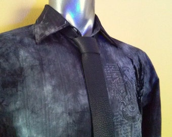 Men's Black Tie, Skinny Tie, Leather Necktie, Leather Ties, Mens Ties, Mens Necktie, Black Tie, Black Necktie, Skinny Necktie, Neckties