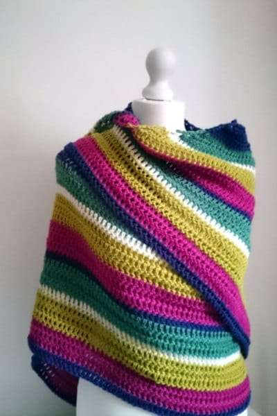 Easy Crochet Shawl Pattern Warmer Winter Shawl PDF