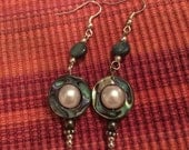 Abalone Tribal Earring Good Luck Charm Healing Protection Boho Shell Earrings Goddess Gift Witch Jewelry Pearl Dangles Perfect Gift