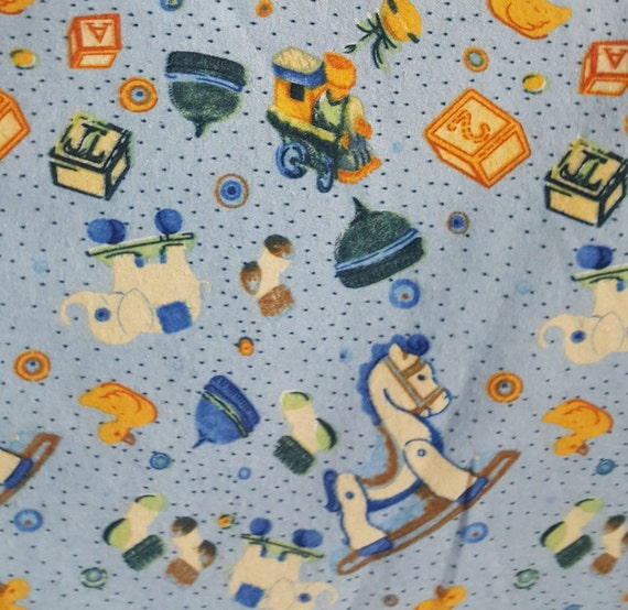 Baby toys cotton flannel printed fabric by the yard by for Children s flannel fabric by the yard