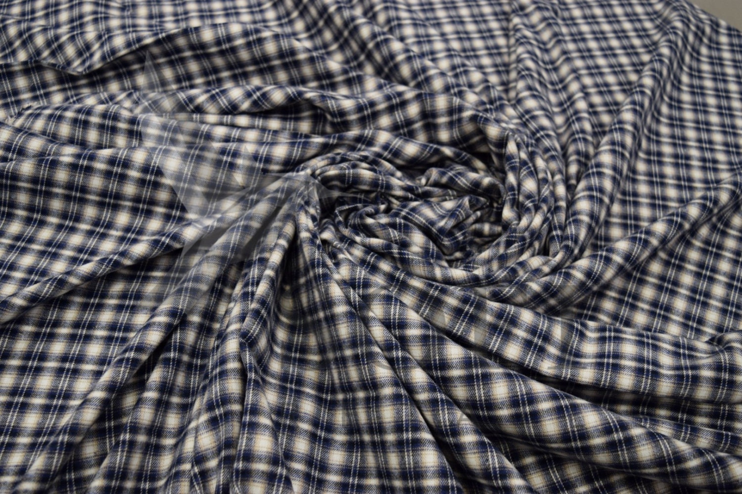 Cotton flannel plaid 18 tartan fabric by the yard from for Cotton fabric by the yard