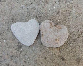Nature's Heart Shaped Stone. Beach Heart Wedding Deco. Blessing Stone, Thank you, I Love You, Garden Decor, Memory Stone. Beach Rocks