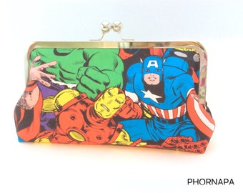 Avengers Clutch with cross body chain strap included Ready to Ship