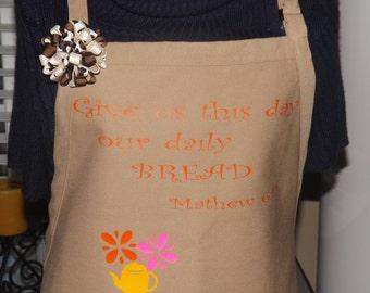 Inspirational Apron, Boutique Apron, Cute Apron, Kitchen Linen