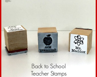 School Teacher Stamp for passes, classroom book sets, notes home, yearbook signing - Select a Style from drop down menu C008