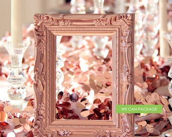"ROSE GOLD Picture Frame Vintage Shabby Chic Photo  5"" x 7"""