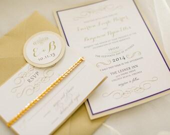 Formal Elegant Wedding Invitation Suite